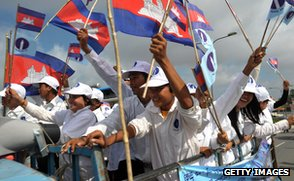 Sam Rainsy Party supporters, Phnom Penh, 2012