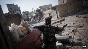 A Syrian rebel