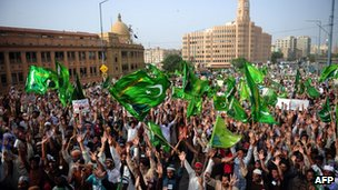 Anti-US protest in Karachi, Pakistan, 19 Sep
