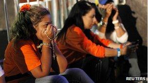 Capriles supporters in Caracas. 8 Oct 2012