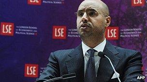 Saif al-Islam Gaddafi at the LSE in 2010