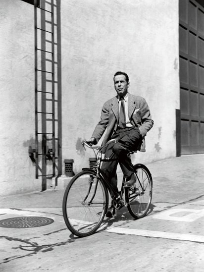 Humphrey Bogart on the Studio backlot, Warner Brothers, 1942