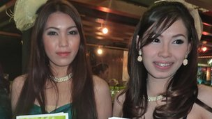 "Two ""pretties"" at Bangkok's House and Condominium Show, October 2012"