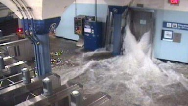 Flooding at Hoboken station, 29 Oct