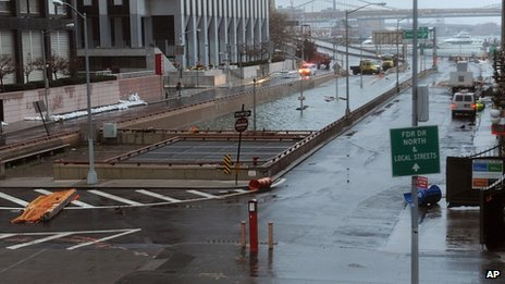 Flooded Brooklyn Battery Tunnel in New York. 30 Oct 2012