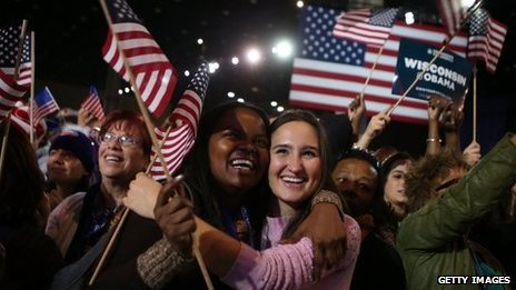 Supporters of President Barack Obama