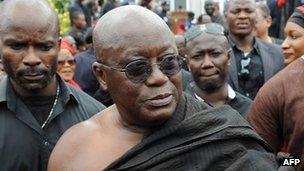 Ghana's main opposition leader Nana Akufo-Addo (October 2012)