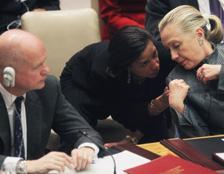 Hague, Rice, Clinton