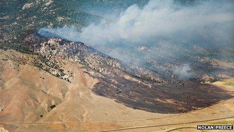 Cheatgrass fire in California
