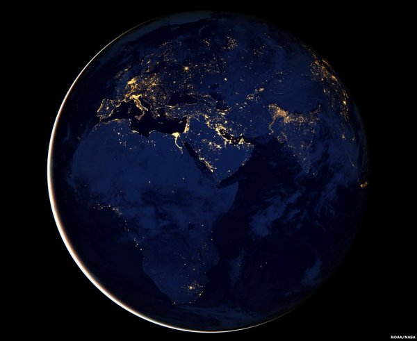 Suomi Satellite Earth In Black - Bbc