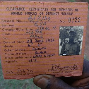 Clearance certificate for members of armed forces of defunct Biafra