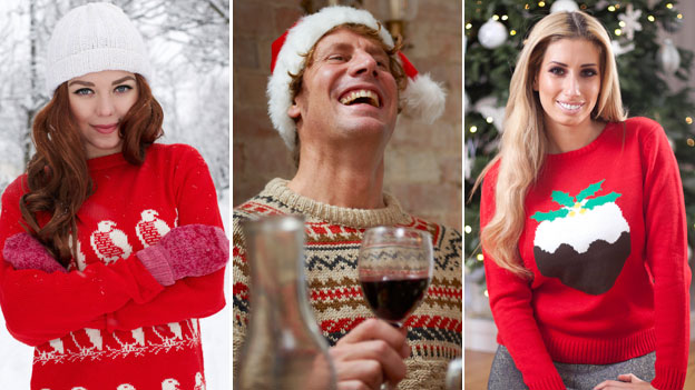 Models in sweaters, Stacey Solomon