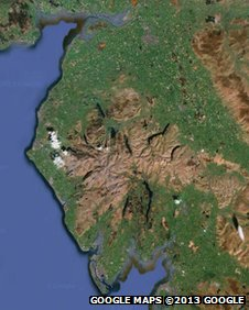 Google Maps image of Cumbria