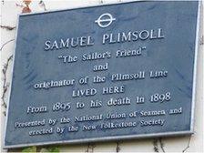 Blue plaque to Samuel Plimsoll