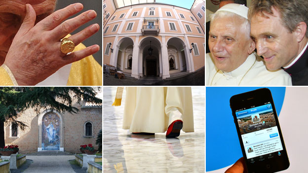 Composite of papal images