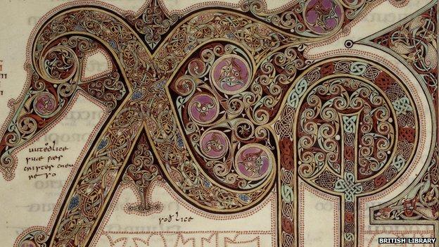 Lindisfarne Gospels Chi-Rho page