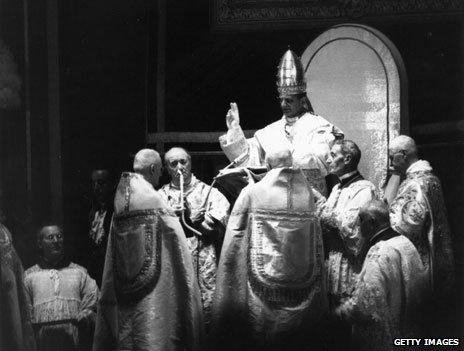 Pope Paul VI coronation in 1963