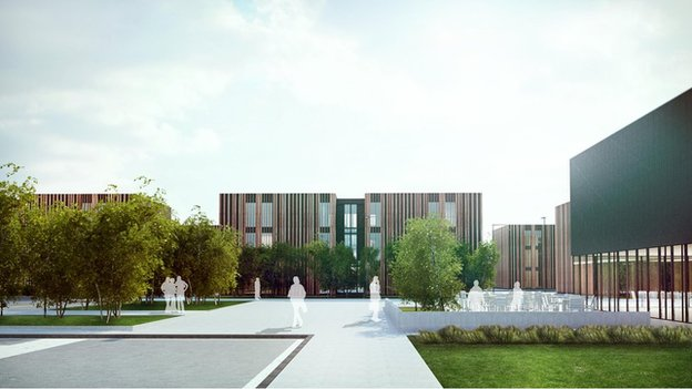 Workers' campus (artist impression)