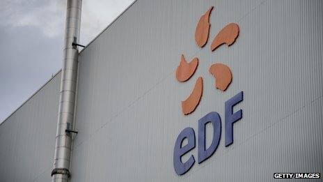 EDF sign at a nuclear plant in France