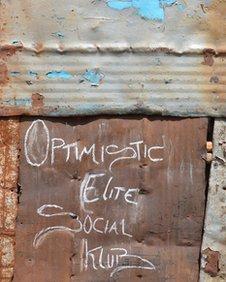 Social club sign