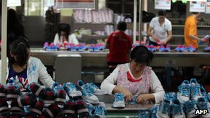 File photo: Factory workers in China