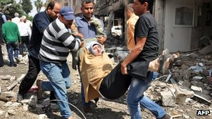 Injured person evacuated from blast site - 11 May