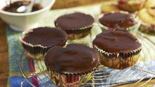 Dextrose chocolate cupcakes