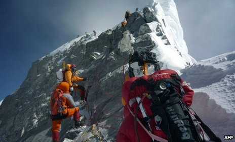 Mountaineers on Hillary Step