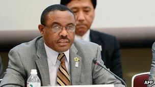 Ethiopia's Prime Minister Hailemariam Desalegn in Tokyo (2 June 2013)