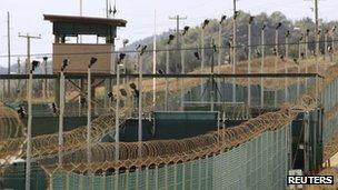 File photo of US prison camp at Guantanamo Bay, Cuba