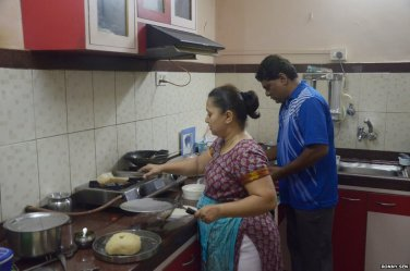 middle class indian kitchen india