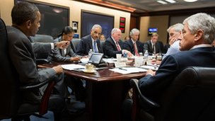 US President Barack Obama in the Situation Room (3 July 2013)