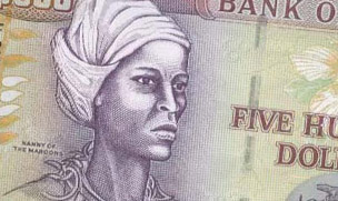 Image of Nanny on Jamaica $500 banknote