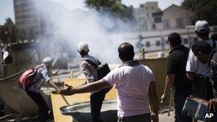 Pro-Morsi protester, Cairo, 5 July
