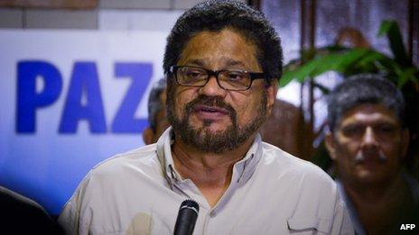 Farc chief negotiator Ivan Marquez, 1 July 13