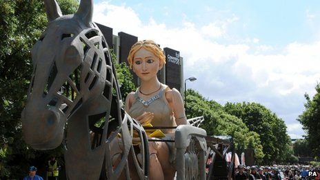 The Lady Godiva parade in Coventry
