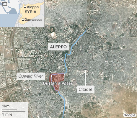 Map of Aleppo