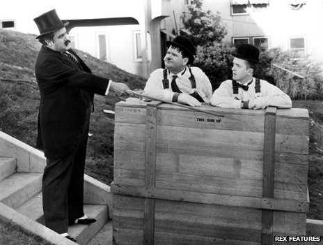 Laurel and Hardy in The Music Box