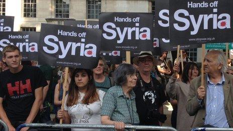London anti-war protest