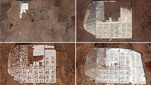 Zaatari camp over time