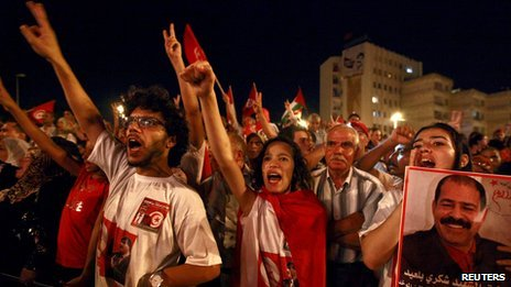 Protesters in Tunis (7 September 2013)