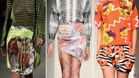 Clashing patterns at London Fashion week in previous years