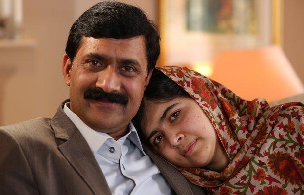 Malala and her father Ziauddin Yousafzai
