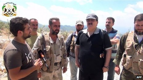 Video purportedly showing Gen Salim Idris visits rebel fighters in Latakia province (11 August 2013)