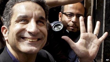 Egyptian television satirist Bassem Youssef
