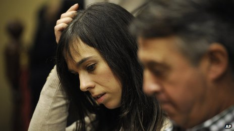 Pianist Laia Martin in court in Girona, Spain (15 Nov. 2013)