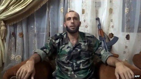 Abdul Qadir al-Saleh, leader of Liwa al-Tawhid (file)
