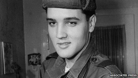 Elvis Presley in Germany Pic: AP
