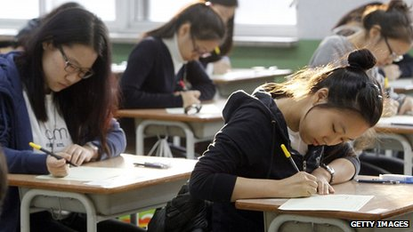 Classroom in South Korea