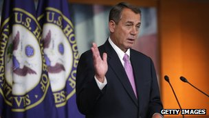 House Speaker John Boehner appeared at the Capitol on 5 December 2013